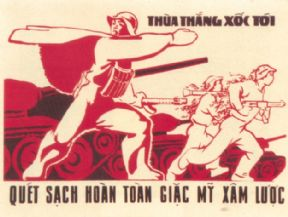 Vietnamese War Attacking Propaganda Poster